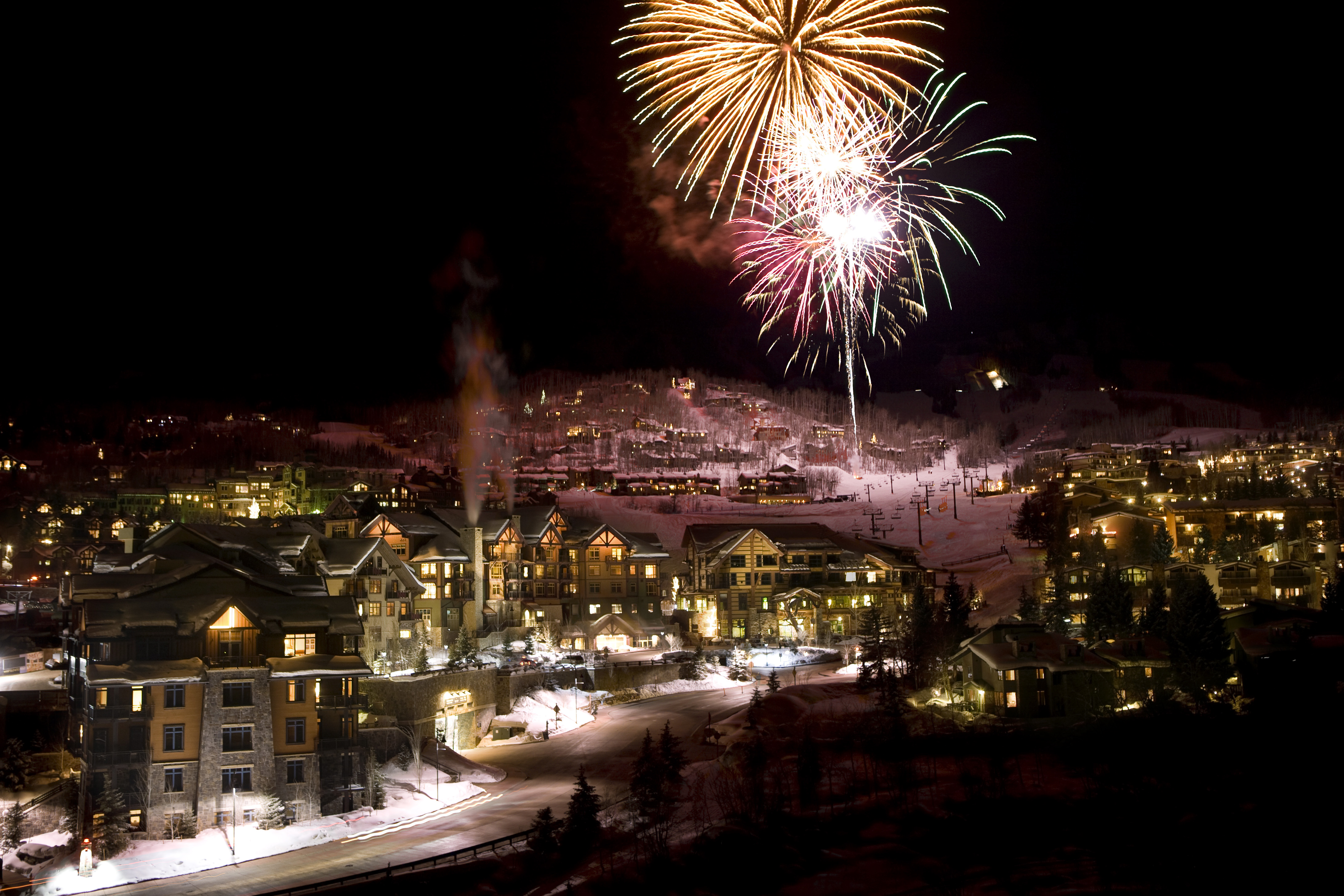 New Year's Eve fireworks in Snowmass Village