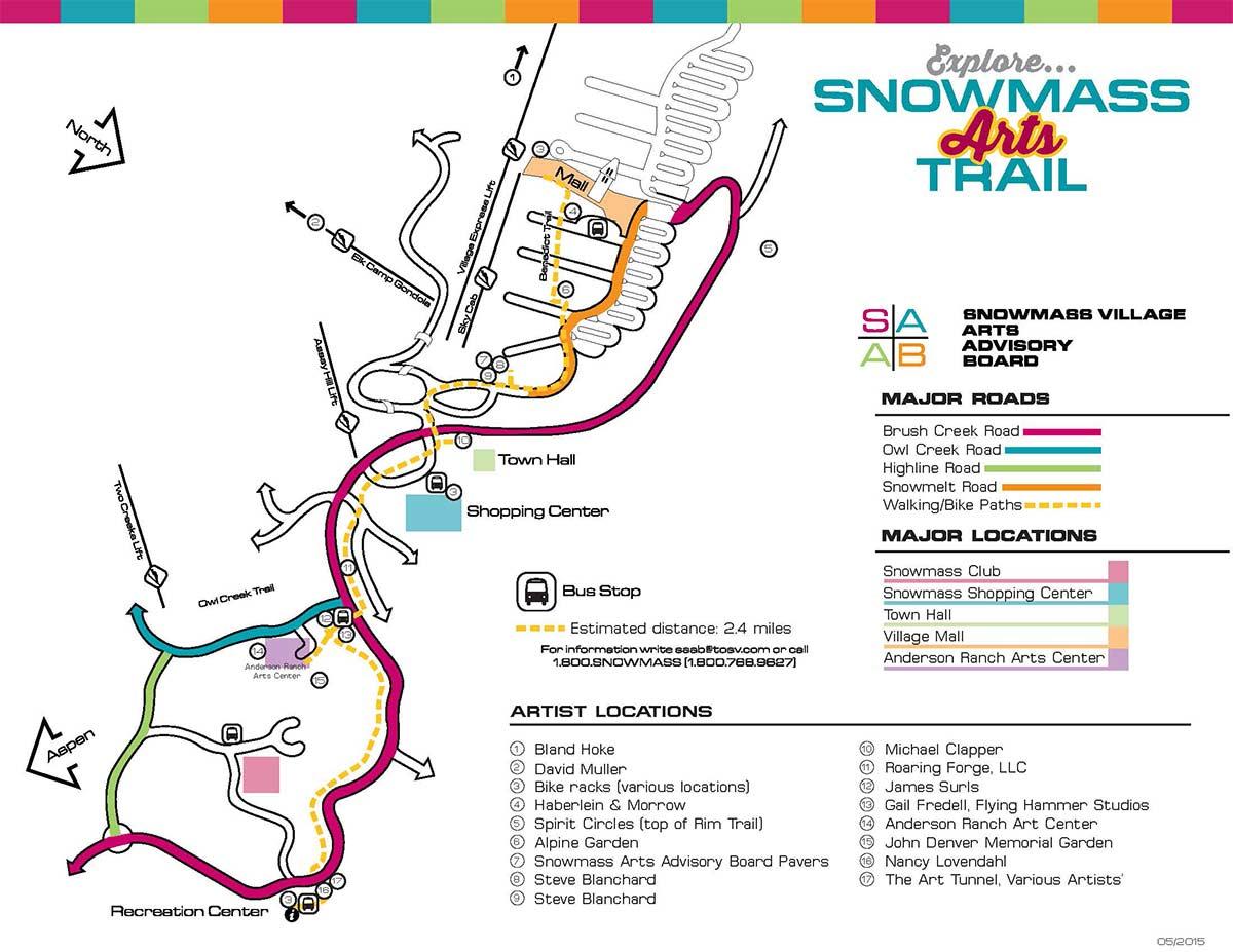 Snowmass Arts Trail Map