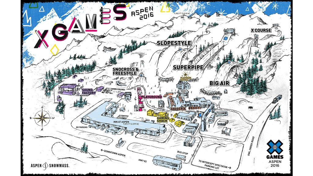 X Games Aspen 2016 venue map
